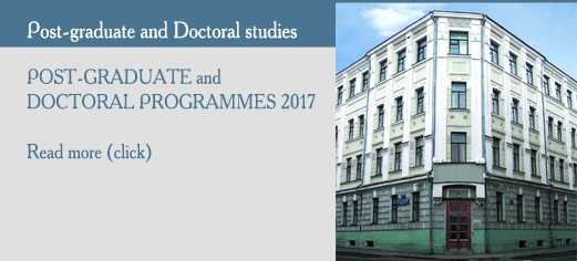 POST-GRADUATE AND DOCTORAL PROGRAMMES