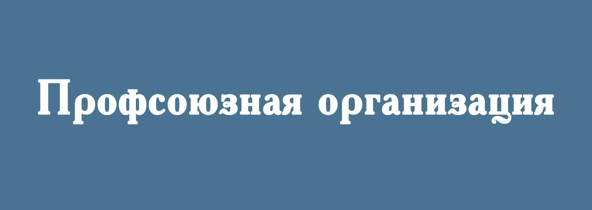 Первичная профсоюзная организация Института